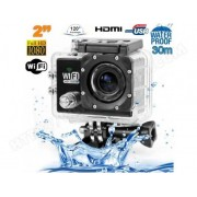 YONIS Camera sport wifi étanche caisson waterproof 12 MP Full HD Noir