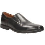 Clarks Gosworth Step Black Leather Lace up For Men(Black)