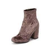 【71%OFF】GAZE ベルベット サイドジップ ショートブーツ マッシュルームベルベット 6 ファッション > 靴~~レディースシューズ