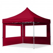 TOOLPORT Pop Up Gazebo 3x3m High Performance Polyester 300 g/m² red waterproof