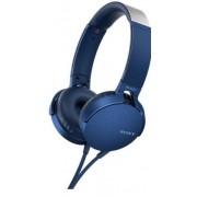 Casti Stereo Sony MDR-XB550APL, Extra Bass (Albastru)