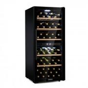 Klarstein Barossa 102D, borhűtő, 2 zóna, 102 üveg, érintős LED kijelző, fekete (HEA8-Barossa-109)