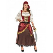 Vegaoo Hochwertiges Piratenkostüm Damen