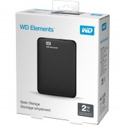 Western Digital Elements - Wd Disco Duro Externo Negro, 2 Tb