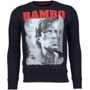 Local Fanatic Rambo - Rhinestone Sweater - Navy