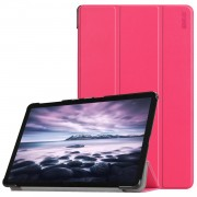 HAT PRINCE Tri-fold PU Leather Stand Smart Tablet Protection Casing for Samsung Galaxy Tab A 10.5 (2018) T590 T595 - Rose