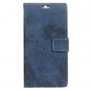 LG K8 (2017) Retro Wallet Case - Blue