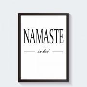 Scandinavische poster Namaste in bed
