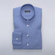 Tailor Store Ljusblå skjorta med diamantformat mönster