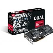 Asus Dual Series RX 580 OC edition 8GB - Grafische kaart - Radeon RX 580 - 8 GB GDDR5 - PCIe 3.0 x16 - DVI, 2 x HDMI, 2 x DisplayPort