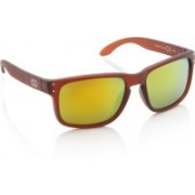 Gio Collection Rectangular Sunglasses(Yellow)