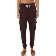 Swell Womens Pocket Lounge Pant Brown Black