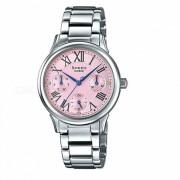 Reloj casio SHE-3049D-4A multi-mano - plata + rosa