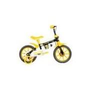 Bicicleta Infantil Kids Aro 12 Preto E Amarelo Mormaii