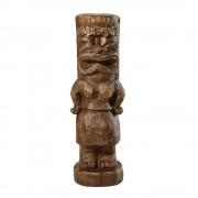 Maisons du Monde Estatua de tiki marrón efecto madera tallada Alt.91