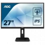 """Монитор AOC 27P1, 27""""(68.58 cm) IPS панел, Full HD, 5ms, 50M:1, 250 cd/m2, HDMI, VGA, DVI, DisplayPort"""