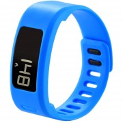 Para Garmin Vivofit 1 Smart Watch De Silicona Ajustable, Longitud: 21 Cm (azul)