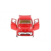 1956 Ford F-100 Pickup Truck, Red - Kinsmart 5385D - 1/38 Scale Diecast Model Toy Car