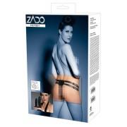 ZADO - valódi bőr alsó külső + 2 belső dildóval (fekete)