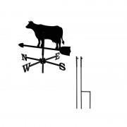 Svens Girouette Vache petit modèle + Mât à planter