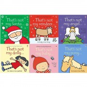 Fiona Watt Thats not my touchy feely series 13 and 14 : 6 books collection set (santa, reindeer, angel, dolly, baby, pony)