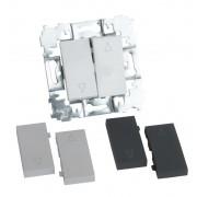 SOPIA Rolladenschlater mit austauschbaren Tasten (weiß-silber-schwarz) 159365