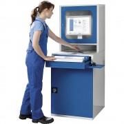 QUIPO PC-Schrank HxBxT 1600 x 600 x 695 mm 1 Fachboden, 1 Auszugboden