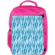 Snoogg Eco Friendly Canvas Abstract Blue Chetah Design Designer Backpack Rucksack School Travel Unisex Casual Canvas Bag Bookbag Satchel 5 L Backpack(Pink)