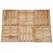 vidaXL Plăci podea, 6 buc., maro, 50 x 50 cm, lemn, FSC