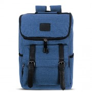 Universal Multi-Function Canvas Laptop Computer Shoulders Bag Leisurely Backpack Students Bag Size: 43x30x14cm For 15.6 inch and Below Macbook Samsung Lenovo Sony DELL Alienware CHUWI ASUS HP(Blue)