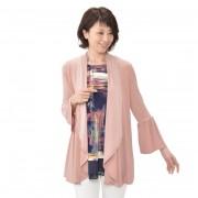 Nina Leonard ベルスリーブカーディガン【QVC】40代・50代レディースファッション