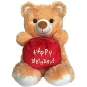 Ultra Happy Birthday Teddy Soft Toy 15 Inches - Brown