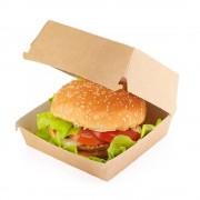 Cutie Natur pentru Hamburger Mare, 13x13x10 cm, 120 Buc/Bax - Ambalaj Fast Food