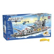 BRICTEK 15403 Giant Battleship Cruiser Set 1745 pc Building Blocks (Compatible with Legos) with Acti