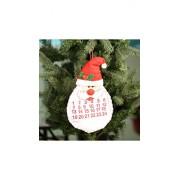 ELECTROPRIME Festnight Lovely Bearded Christmas Santa Claus Advent Calendar Countdown Wall Hanging Ornament Festival Decoration