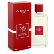 Habit Rouge L'eau For Men By Guerlain Eau De Toilette Spray 3.3 Oz
