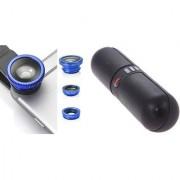 Mobile clip Lens & F Pill bluetooth speaker for all Smart phones||3 in 1 Lens|| Fish Eye Lens|| Macro Lens|| Wide Angle Lens Mobile Lens||Universal Mobile Lens ||Telescope Lens||Zoom Lens
