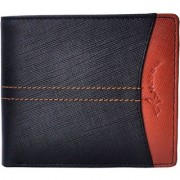 Tamanna Men Black Tan Genuine Leather Wallet (7 Card Slots)