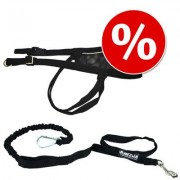 Kit canicross: Cinturón + Línea de tiro para perros