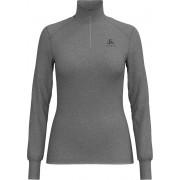 Odlo Bl Top Turtle Neck L/S Half Zip Active Warm Dames Thermoshirt - Grey Melange - Maat XL
