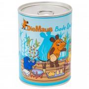 Gel de dus, sapun si burete de baie pentru copii Accentra, cutie de aluminiu, 8 X 10.5 cm, ilustratii colorate, bleu, 05167
