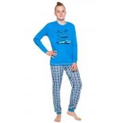 Vojta hosszú fiúpizsama, kék 146