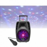 Idance Boxa portabila Li-Ion 1x microfon cu fir disco ball 8 Bluetooth USB 75W RMS