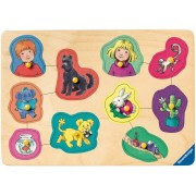 Puzzle din lemn Ravensburger - Karsten and Petra, 10 piese (03680)