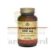 Solgar Resveratrol 250 mg 30 capsule cu extract de vin rosu
