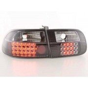 FK-Automotive LED Feux arrieres pour Honda Civic 3-portes (type EG4/EG8) An 96-00, noir