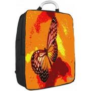 Laptop rugzak 17,3 oranje/roze vlinder - Sleevy