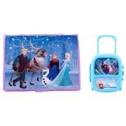 Pachet Frozen - Set pictura 68 piese + Set troler cu coloriaj