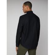 Ben Sherman Main Line Long Sleeve Black Oxford Shirt Med True Black