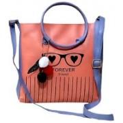 CLIXB Women Tan, Blue Sling Bag